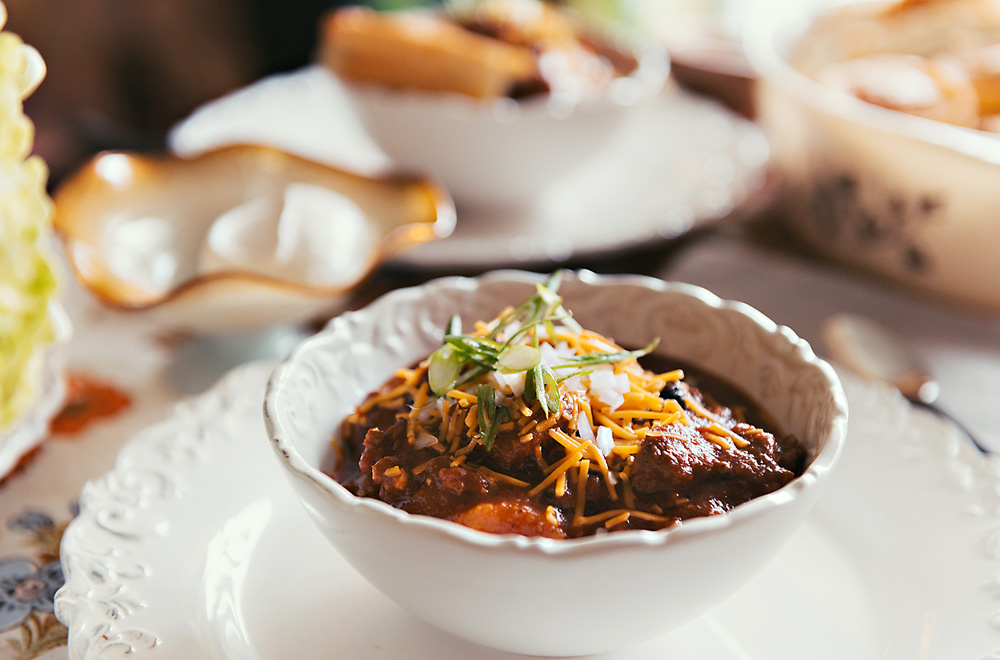 Southwest Beef Chili Dish